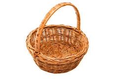 wicker basket isolated stock photography