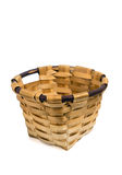 Wicker basket. Isolated on white background Stock Photography