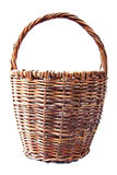 Wicker basket. Isolated on a white background. Royalty Free Stock Photography