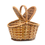 Wicker basket with lid Stock Image