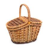 Wicker basket with lid Stock Images