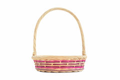 Wicker basket with loop handle Stock Image