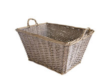 Wicker basket. Made of twigs on a white background. handmade. skills. Crafts Stock Image