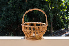 Wicker Basket made of rattan Stock Photography