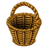 Wicker basket made of wicker Royalty Free Stock Images