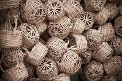 Wicker basket in marketplace,Gafsa,Tunisia Stock Image