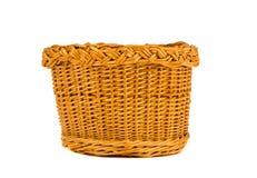 Free Wicker Basket On White Royalty Free Stock Photos - 26506938