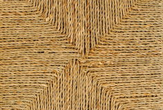 Wicker basket with original pattern. Straw background Royalty Free Stock Photos
