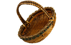 Wicker basket with path Stock Photo