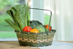 Wicker Basket with Produce Royalty Free Stock Image
