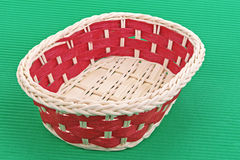 Wicker basket with red elements Stock Photos