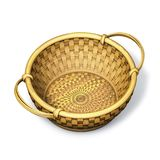Wicker basket round Royalty Free Stock Photos