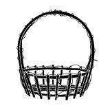 Wicker Basket  silhouette Vector Royalty Free Stock Photography
