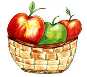 Wicker Basket Sketch Royalty Free Stock Photography