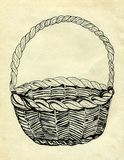 Wicker Basket Sketch Royalty Free Stock Image