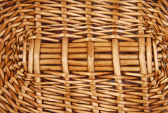 Wicker basket texture Royalty Free Stock Photos