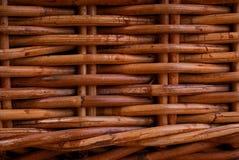 Wicker basket texture. Closeup of wicker basket weave Royalty Free Stock Image