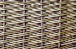 Wicker basket texture crisscross pattern Stock Image