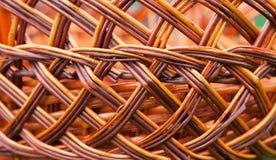 Wicker basket texture, pattern background. Handmade Royalty Free Stock Image