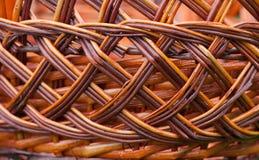 Wicker basket texture, pattern background. Handmade Royalty Free Stock Photos