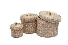 Wicker basket, Royalty Free Stock Images
