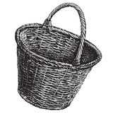 Wicker basket vector logo design template Royalty Free Stock Photo