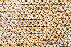 Wicker basket weave surface for background Stock Photos