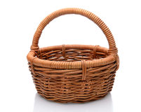 Wicker Basket on White Royalty Free Stock Photo