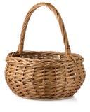 Wicker basket on white Stock Photo