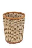 Wicker basket on white background Royalty Free Stock Photos