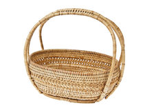Wicker basket on white background. For any use Royalty Free Stock Images