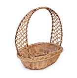 Wicker basket. In a white background Stock Image