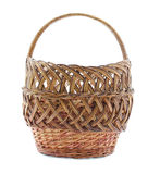 Wicker basket. On a white background royalty free stock photos