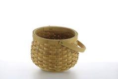 Wicker basket. On white background background Royalty Free Stock Image