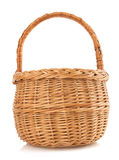 Wicker basket on white background Stock Photography