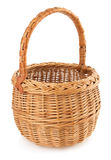 Wicker basket on white background Royalty Free Stock Image