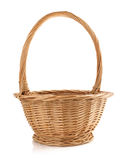 Wicker basket on white background Stock Photo