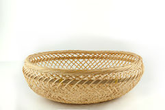 Wicker basket on white background Royalty Free Stock Images