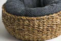 Wicker basket  on white Royalty Free Stock Photo