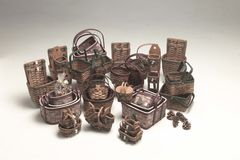 Wicker baskets Royalty Free Stock Image