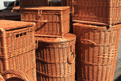 Wicker baskets Royalty Free Stock Photo