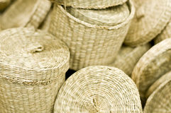 Wicker baskets Stock Photos