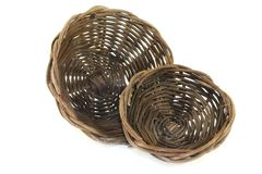 Wicker baskets Royalty Free Stock Photos