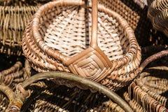 Wicker baskets Royalty Free Stock Photo
