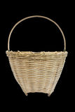 Wicker baskets for fruit vegetable or bread isolate on black background Stock Image