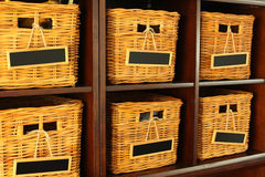 Wicker Baskets. A group of unnamed wicker Basket, ready for use Royalty Free Stock Images