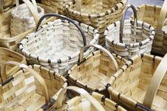 Wicker baskets handmade Royalty Free Stock Photo