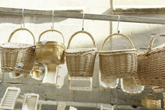 Wicker baskets handmade Royalty Free Stock Image