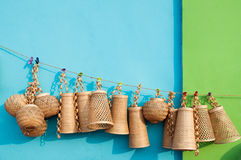 Wicker baskets, Indian handicrafts fair at Kolkata Stock Photos