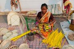 Wicker baskets, Indian handicrafts fair at Kolkata Stock Photo